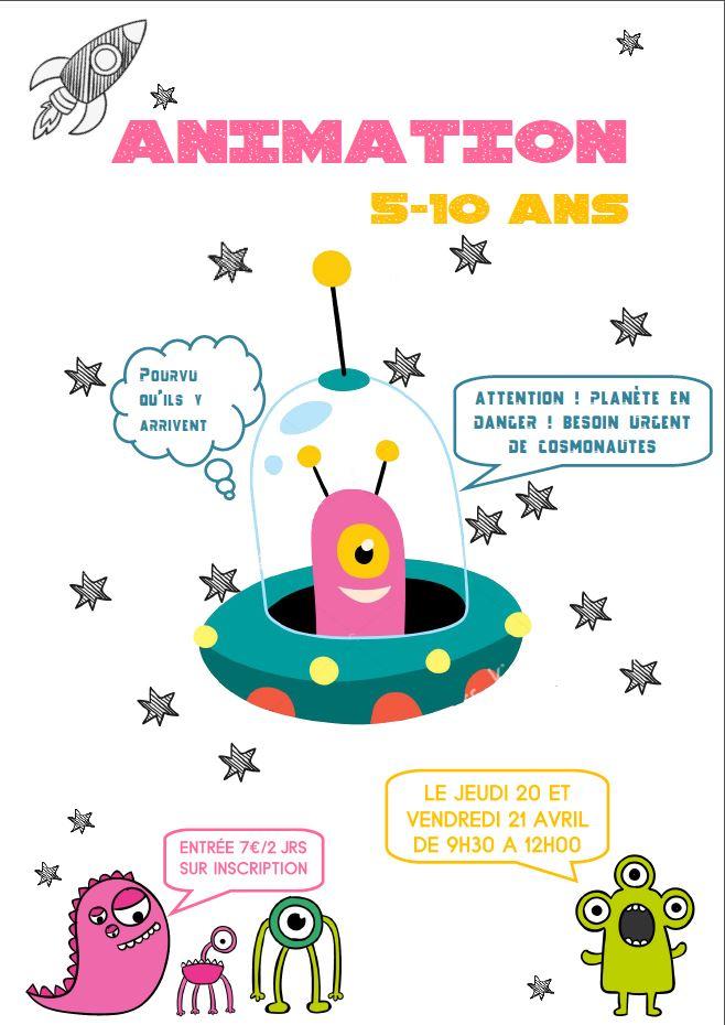 Affiche animation cosmonaute 5-10