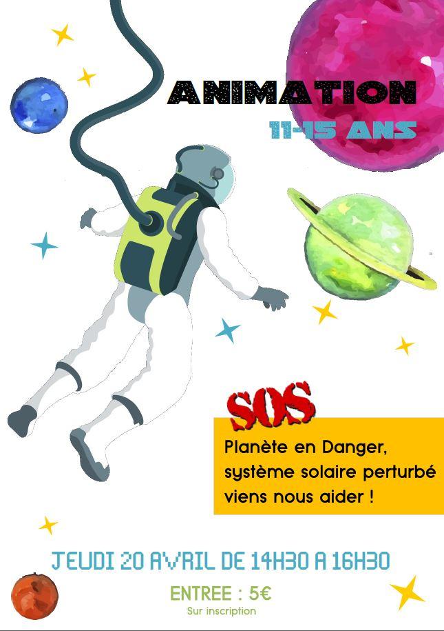 affiche animation cosmonaute 11-152